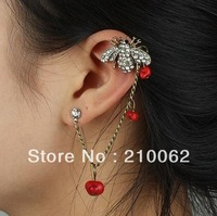 min order $15 mix order Punk earrings E4650 Stud Cuff earrings 6pc/lot, Free Shipping, clip on earrings