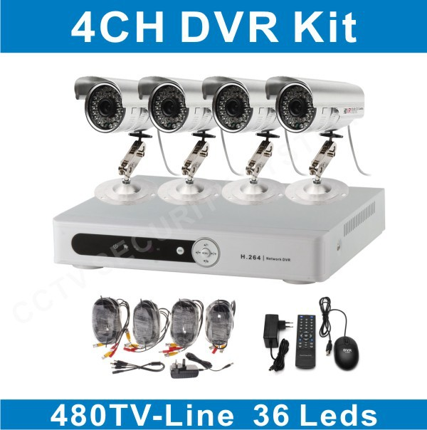 monitor with 8 cameras CCTV 8ch 480TVL Camera Network DVR Kit support Win7 Mac iPhone DVR-RW(China (Mainland))