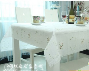 Printing waterproof cloth/PVC hollow out table cloth/crystal table mat free shipping(China (Mainland))