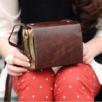 vintage mini messenger coin purse camera women's handbag