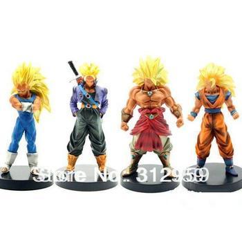 "Free shipping 4pcs/set Anime Dragon Ball Goku pvc figure Cosplay plush action Toy figure Animal Doll gift 7"" style C"