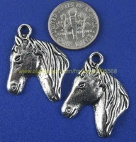 Free shipping antique silver horse head charms pendant tibetan silver deer charms jewelry component cut price  Sales promotion