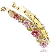 Flower banana clip accessories vertical clip banana hair accessory rhinestone hairpin f001