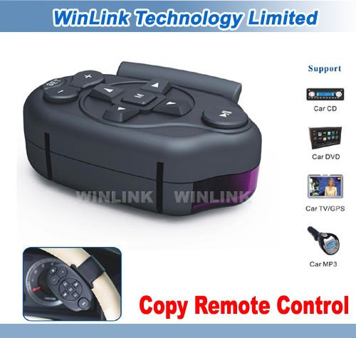 Steering Wheel Copy Remote Control For Car DVD Player Free Shipping(China (Mainland))