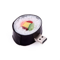 lovely wholesale 4GB 8GB 3d japan sushi food USB flash memory drive Pen U disk Iron Box packed gift