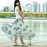 2013 spring expansion skirt long skirt bust skirt chiffon skirt spring and summer