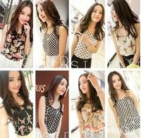 2014 Fashion Summer Women's Clothes Chiffon Sleeveless Causal  Chiffon blouse Sundress S-XXXL ,Free Shipping Dropshipping