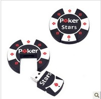 Wholesales!10 pcs/lot new cartoon poker chip star model usb 2.0 memory flash stick/disk/thumbdrive/car/gift freeshipping