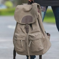 free shipping Backpack canvas bag student school bag travel bag candy color laptop bag