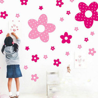 free shipping!!! Children room bedroom  Romantic house full of flowers wall stickers home stickers decore