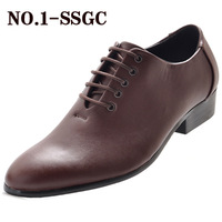 freeshipping Male pointed toe fashion vintage leather fashion business casual leather genuine leather lacing shoes