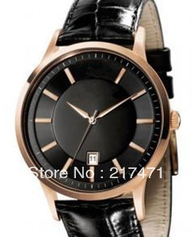Free shipping+ wholesale! Mens Designer Classic leather Watches AR2425.(China (Mainland))