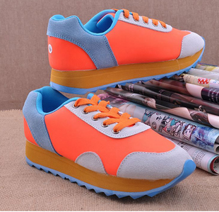 Fashion fashion vintage women's casual sports shoes agam shoes cannonading shoes candy color block decoration shoes(China (Mainland))