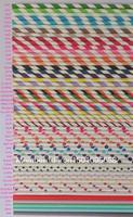 25pcs Sample Of Paper Straws Polka Dot Striped Star Heart Paper Straws Chevron Mix wedding Supplies 19.5MM Paper Drinking Straws