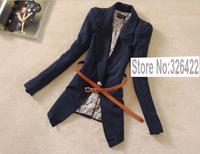Autumn Winter Vintage Outwear Elegant Vintage Slim Office Ladies Black Coat Suit Jacket And Blazer Women Branco Feminino 2014