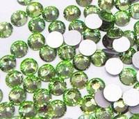 Free shipping 1440pcs ss16 PERIDOT color flat back rhinestone, Non Hot Fix crystal Rhinestones for DIY crystal rhinetones