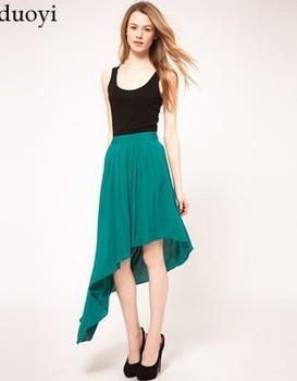 2013 Summer New fashion elegant pleated elegant thick asymmetrical skirt bust women skirt lining dovetail girl's skirt