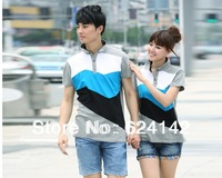 Couple of sportswear, free shipping, the summer couples dress with short sleeves