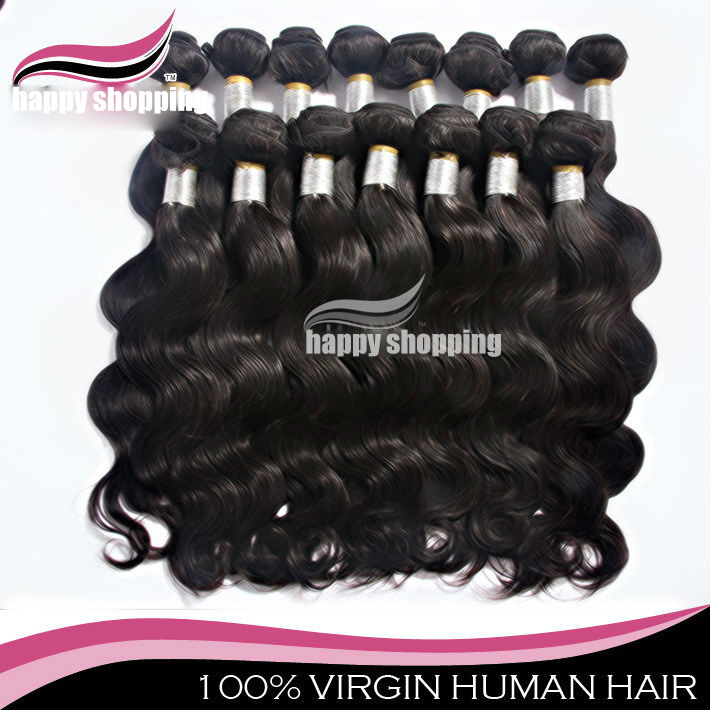Free shipping New Arrivals AAAA+ Queen hair products Virgin brazilian hair extension no shedding no tangle 4pcs/lot jf006/4(China (Mainland))