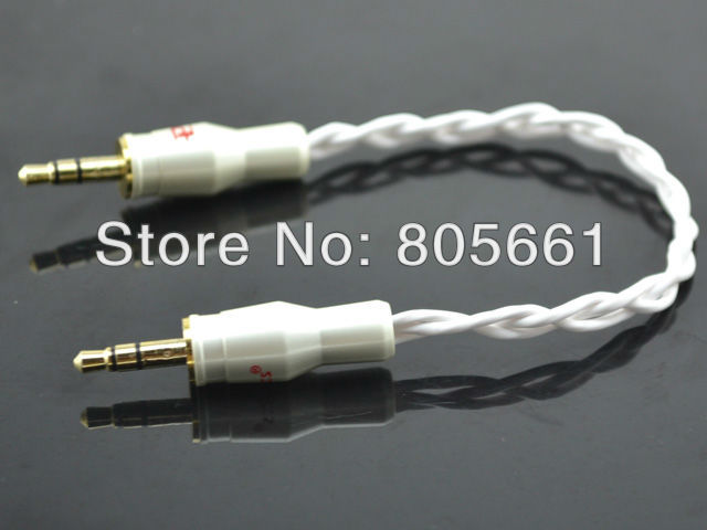 Hi End Audio High Performance 3.5mm to 3.5mm Mini Stereo Line Out Cable with pailccs 3.5mm banana plug(Hong Kong)