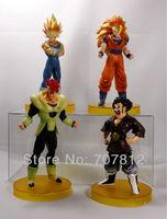 New Super saiyan 3 Dragon Ball Z GT Action figure Anime figure Toys 14.5CM PVC 4PCS/SET Free Shipping