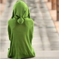 2012 personality plus size clothing hooded autumn sweater female cardigan long-sleeve sweater