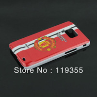 ManUtd Plastic Cover For Galaxy S2 MUFC Football Club Hard Case For Samsung Galaxy S2 i9100, Freeshipping, Retail