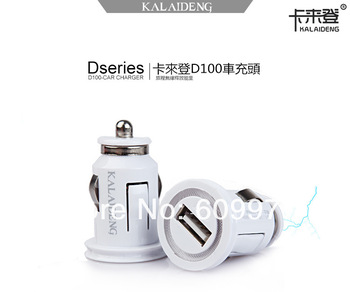 Original Kalaideng High Quality Universal USB Car charger Adapter for moble Phone iPhone 4 5 Samsung HTC Sony,Free shiping