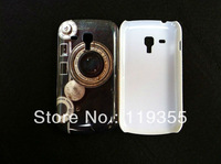 1pcs Retro Black Camera Cover Case For Samsung Galaxy S Duos S7562, Freeshipping