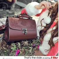 2013 Women's bag  fashion shaping small bag shoulder bag carved box women's handbag messenger bags