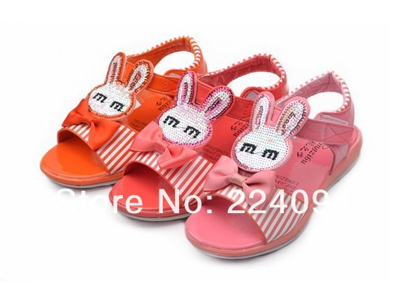 Free shipping kids samdals girls sandals Children's beach shoes for 4-6years old(15.5cm-17.5)baby girls fashion sandals(China (Mainland))