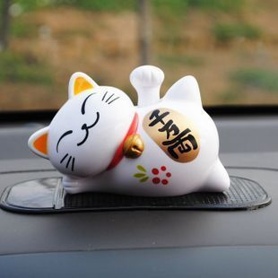 Solar doll car accessories decoration cat lucky cat auto supplies(China (Mainland))