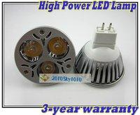 MR16 AC/DC 12V LED SPOT LIGHT 6 Color Choice High Power 3W LED BULB SPOT LIGHTING LAMPS DOWNLIGHT