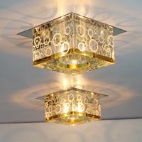 1pc Modern minimalist 3W LED Crystal ceiling lights corridor lights foyer lights balcony lamp porch lamp living room lighting