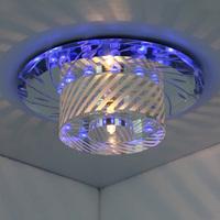 Modern Round 3W blue LED crystal ceiling light lamp aisle foyer light corridor porch lights balcony lamp free shipping