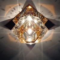 Modern 3W LED crystal ceiling lighting lamp corridor lamp aisle lights foyer light led lighting fixtures DHL free shipping
