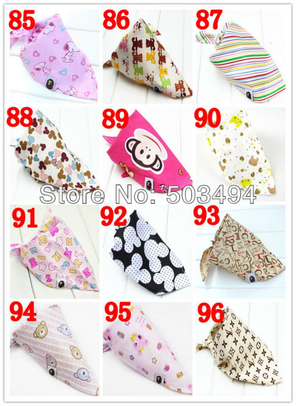EMS Free Shipping 500/Lot baby Bib Baby Stay Dry Dribble Bandana Bibs Triangle Head Scarf for Boy Girl 100 styles to choose(China (Mainland))