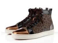 golden glitter 2013 new arrived fashion running sports red bottom sneakers for men