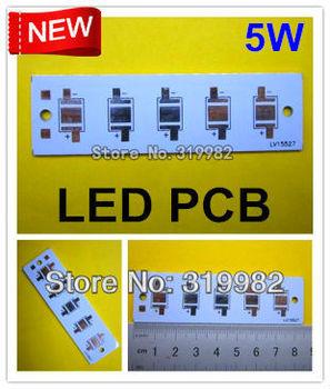 30pcs/lot, 5W LED strip type PCB, 85*25mm for 5pcs LEDs, aluminum plate base board, high power led 5W DIY PCB, free shipping
