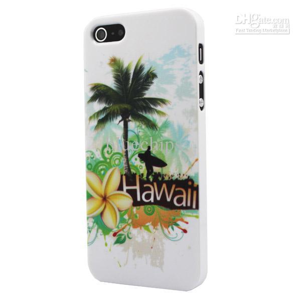 Laser Black Hawaii Clip On Plastic Case for Apple iPhone 5 5G iphone4 4S Case(China (Mainland))
