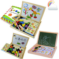 Oppssed magnetic learning drawing board child wooden jigsaw puzzle toy