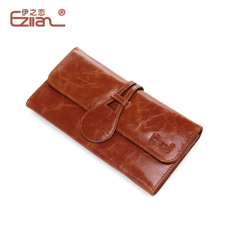 Freeshipping hot Women's genuine leather vintage purse card case new arrival female card place long design wallet(China (Mainland))