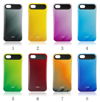Wholesale 20 Pcs/Lot Luxury Perfume Colors i Glow Stripes Back Cover for iPhone 5G 5th Hybrid Hard Case DHL Free