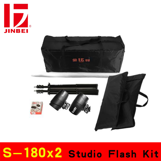 Lighting kits Strobe flash S-180x2 Studio Flash Kit photography light kit(China (Mainland))