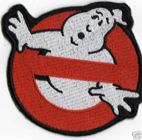 Big! ~ 6.5 inch Ghostbusters Embroidered patch iron on applique DIY accessory + 100% embroidered +halloween movie costume ghosts
