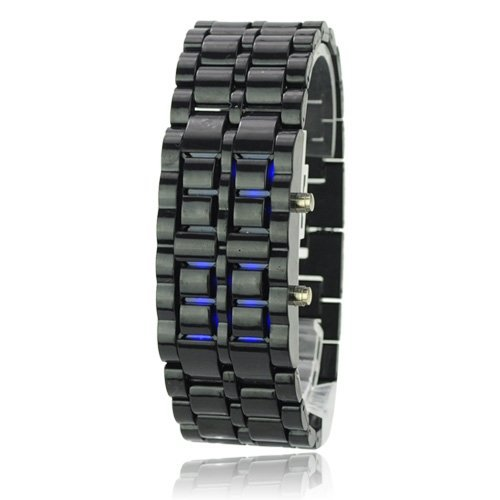 10PCS BLUE LED and black Watch SHARP Lava Style Iron Samurai Metal(China (Mainland))