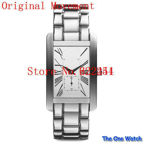 The one watch wholesale-Free shipping hot brand man watch steel watch ar0145 / models ar0146 single-vessel+ Original box(China (Mainland))