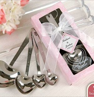 Free shipping Spoonfuls 3079 in love heart 4 set love stainless steel spoon set tableware 200 box(China (Mainland))