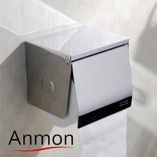 Anmon 304 stainless steel toilet paper box paper towel holder paper holder toilet paper box waterproof(China (Mainland))