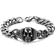 Accessories personalized vintage skull bracelet titanium bracelet gs617(China (Mainland))